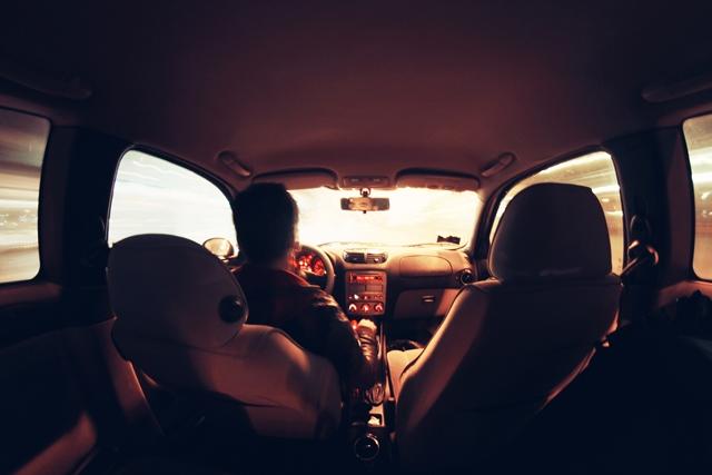 man-person-night-car